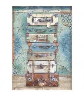 Comprar Papel de Arroz en A4 modelo maletas de Conideade