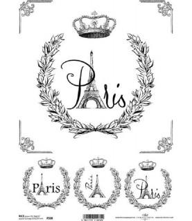 Comprar Papel de Arroz en A4 Paris blanco y negro de Conideade