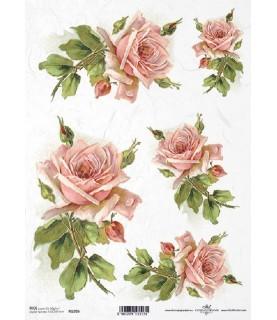 Comprar Papel de Arroz en A4 Rosas de color rosa de Conideade