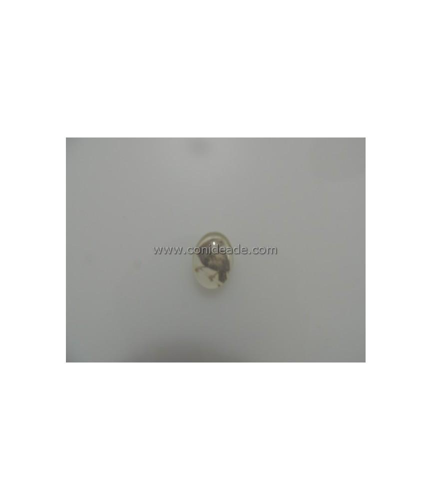 Cabuchon cristal pajaro 18x13mm