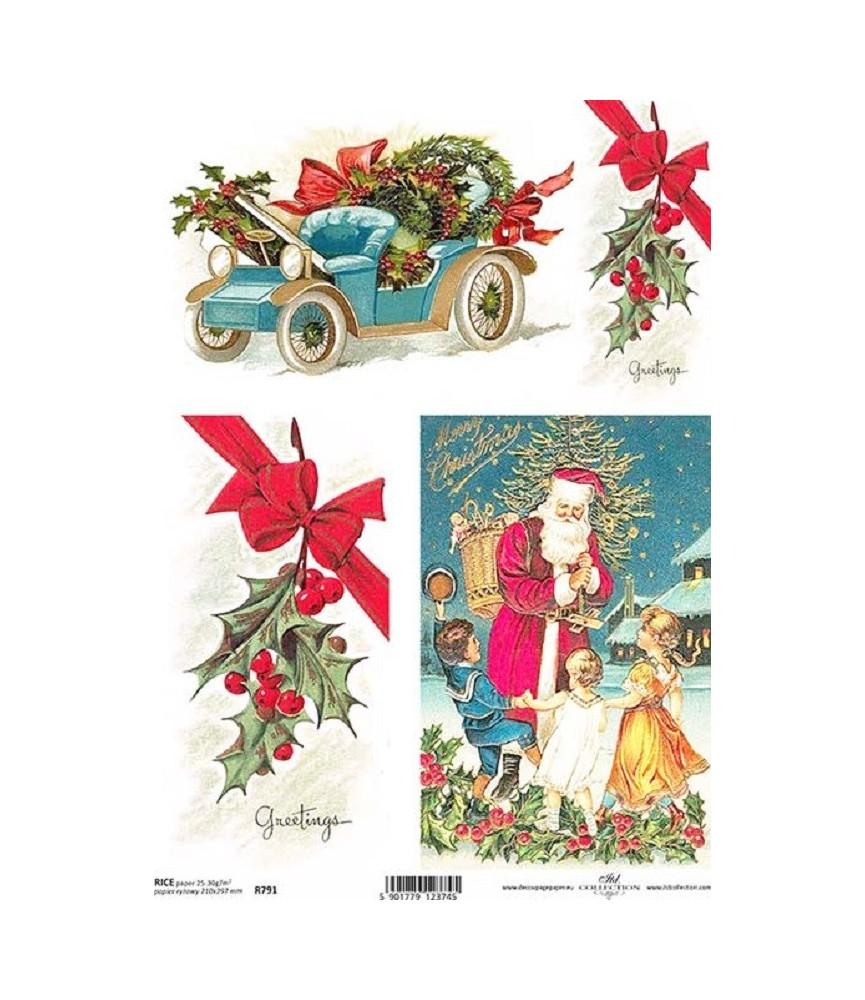 Papel de Arroz en A4 magica navidad