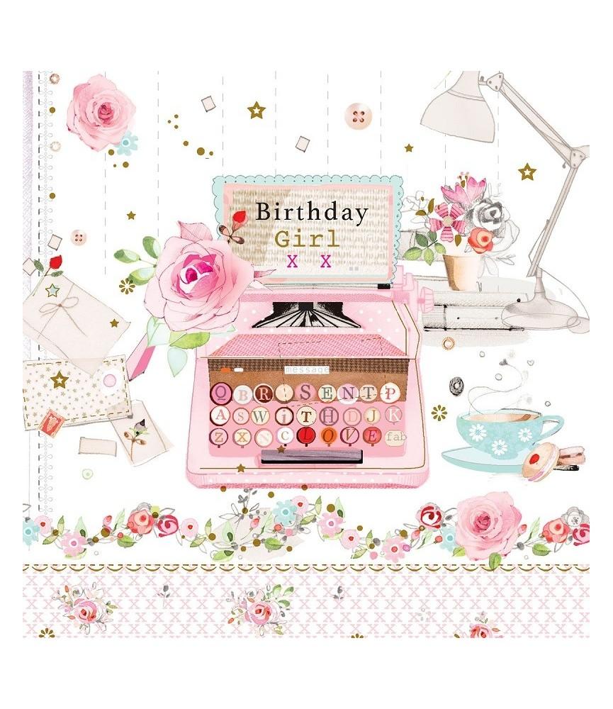 Servilleta decorativa carta de cumpleaños