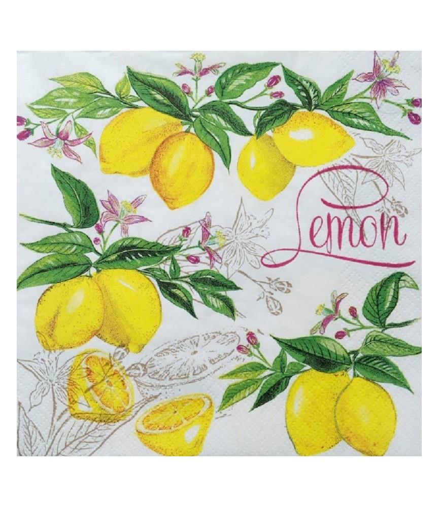 Servilleta decorativa Limones
