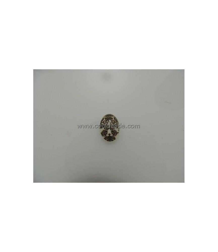 Cabuchon cristal barroco 18x13mm