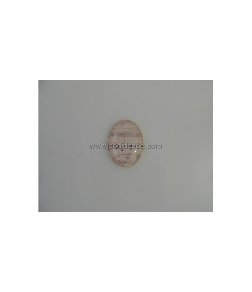 Cabuchon cristal partitura 40x30mm