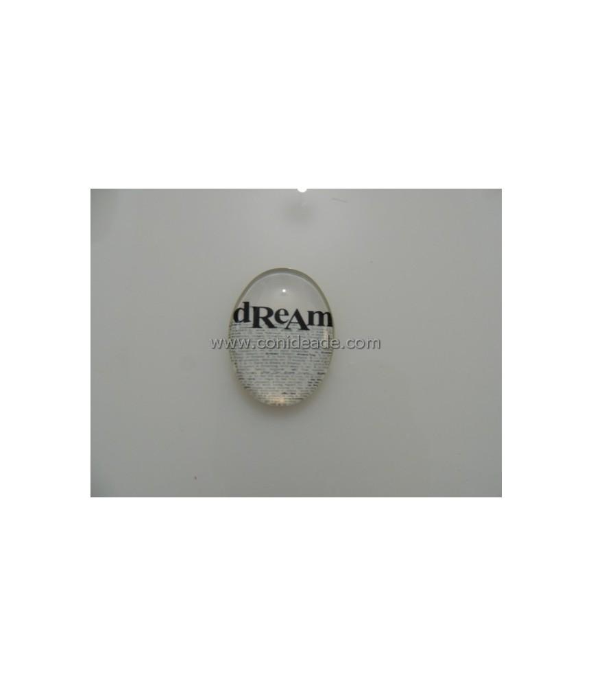 Cabuchon cristal Letras 40x30mm