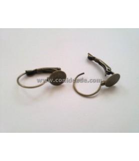 Comprar Par de pendientes con base en bronce 21x13 mm de Conideade
