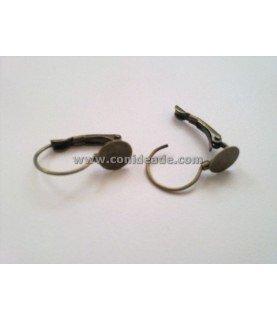 Comprar Par de pendientes con base en bronce 21x13 mm