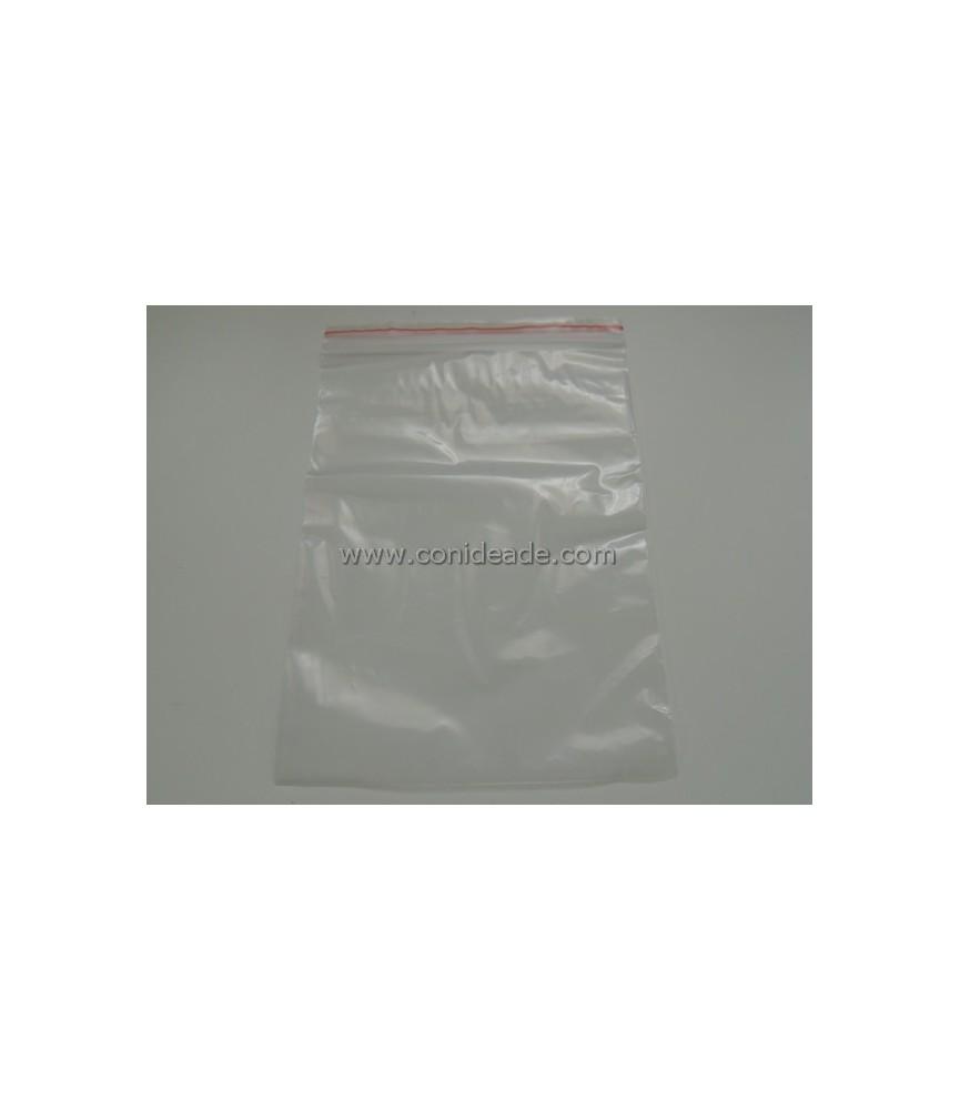 Pack de 100 bolsas de plástico de 15x20 cm con cierre