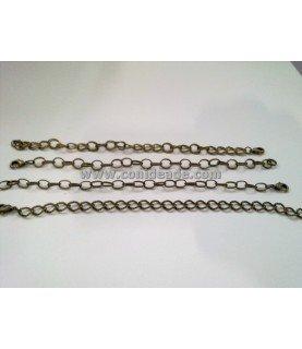 Pack de 4 pulseras en bronce de 18 cm