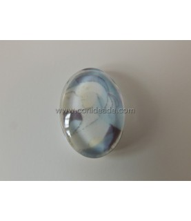 Imagén: Cabuchon cristal cara abstracta 13x18mm