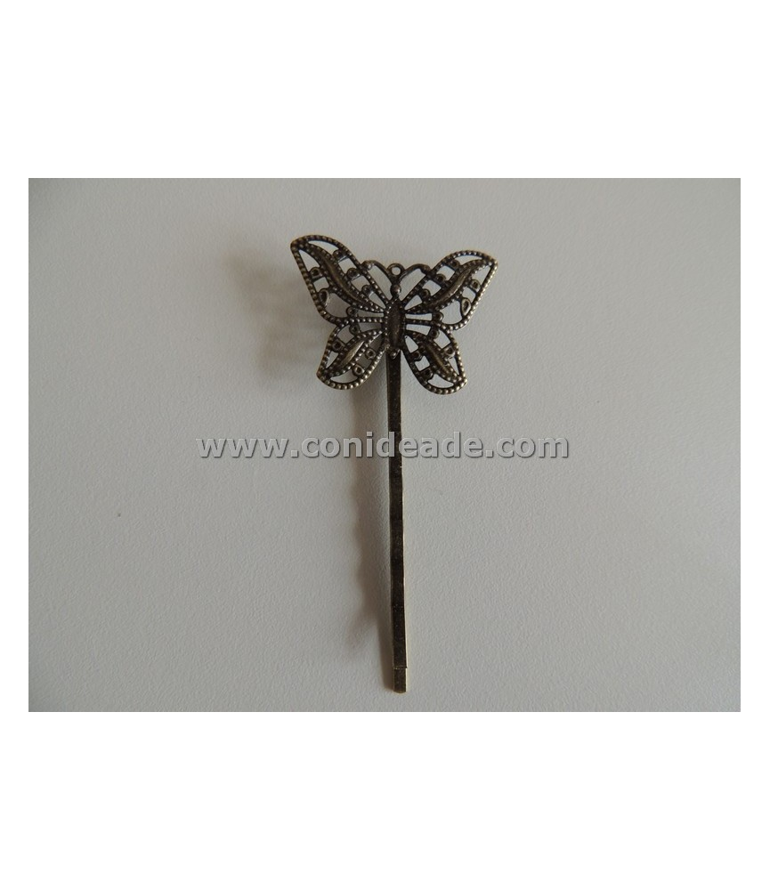Horquilla vintage bronce mariposa