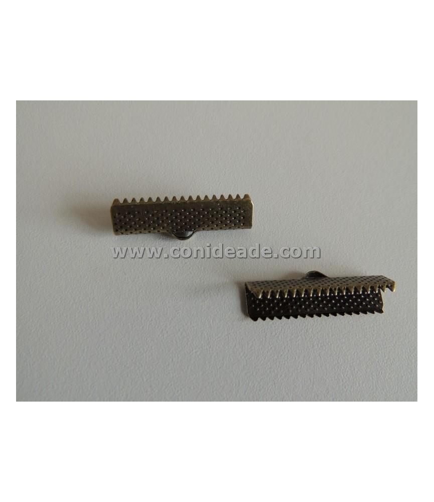 Terminal dentado 25x7,5mm bronce