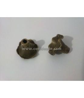 Terminal flor trompeta bronce