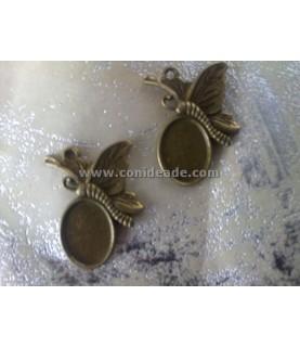 Imagén: Base de camafeo mariposa bronce