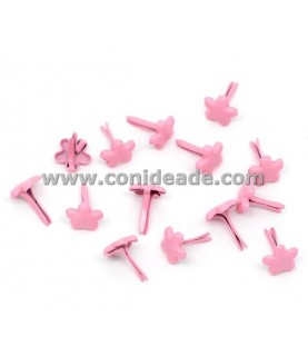 Pack 10 Encuadernadores estrellas rosas