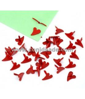 Pack 10 Encuadernadores corazones rojos