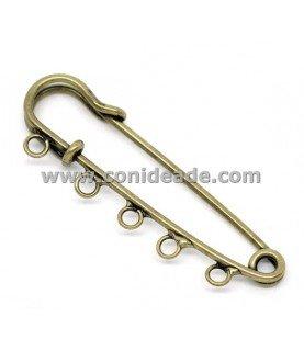 Comprar Imperdible bronce 5 anillas 5cm