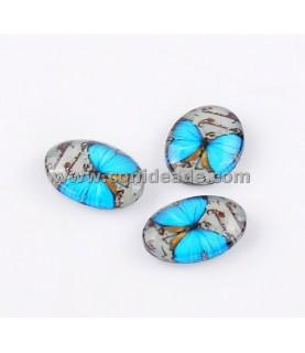 Comprar Cabuchon cristal mariposa turquesa 18x13mm de Conideade