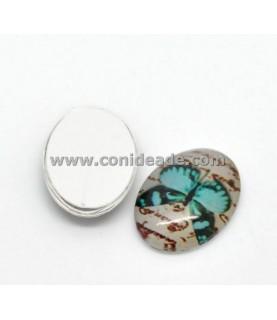 Comprar Cabuchon cristal mariposa azul verdoso 18x13 mm de Conideade