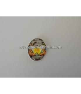 Comprar Cabuchon cristal mariposa amarilla 18x13 mm de Conideade