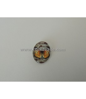 Comprar Cabuchon cristal mariposa camel 18x13mm de Conideade