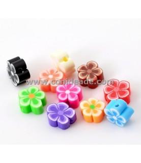 Cuentas de resina flores multicolor
