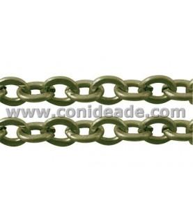 Cadena bronce eslabón redondeado 3,5x4 mm