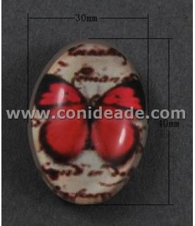 Comprar Cabuchon cristal mariposa rosa 40x30mm de Conideade