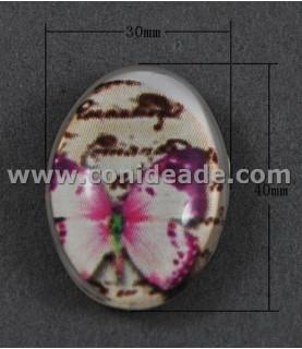 Comprar Cabuchon cristal mariposa lila 40x30mm de Conideade