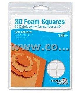 3D Foam Squares Adhesivo 126 ud