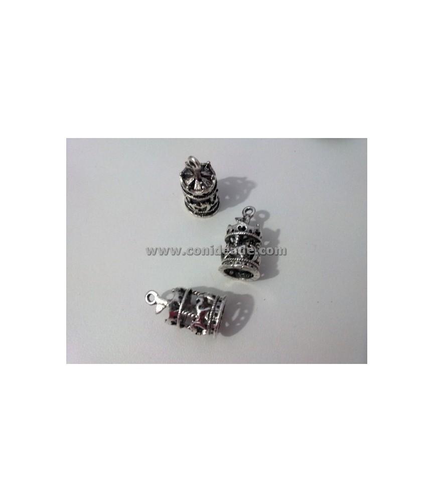 Charm carrusel color plata 20x10mm