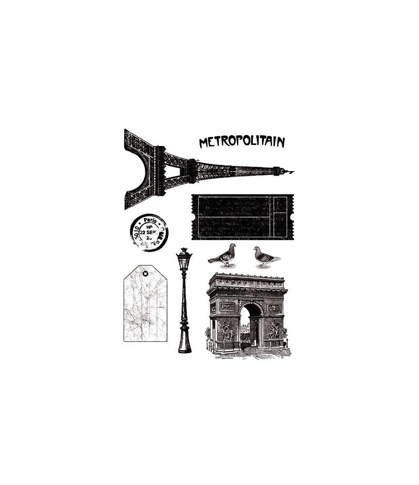 Pack sellos transparentes Paris Vintage