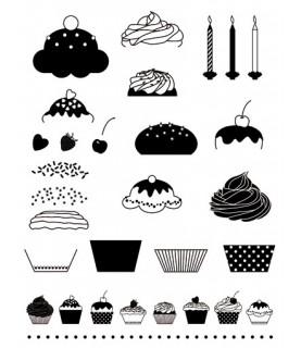 Pack sellos transparentes Cupcakes