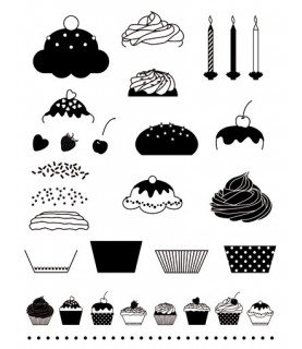 Comprar Pack sellos transparentes Cupcakes de Conideade