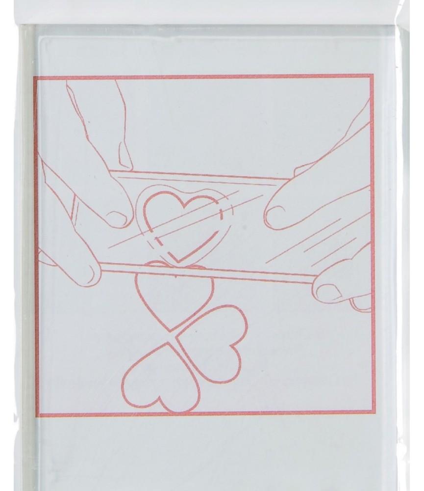 Bloque acrílico para sellos 7x9 cm