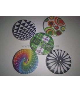 Comprar Pack de 5 botones dibujos geometricos