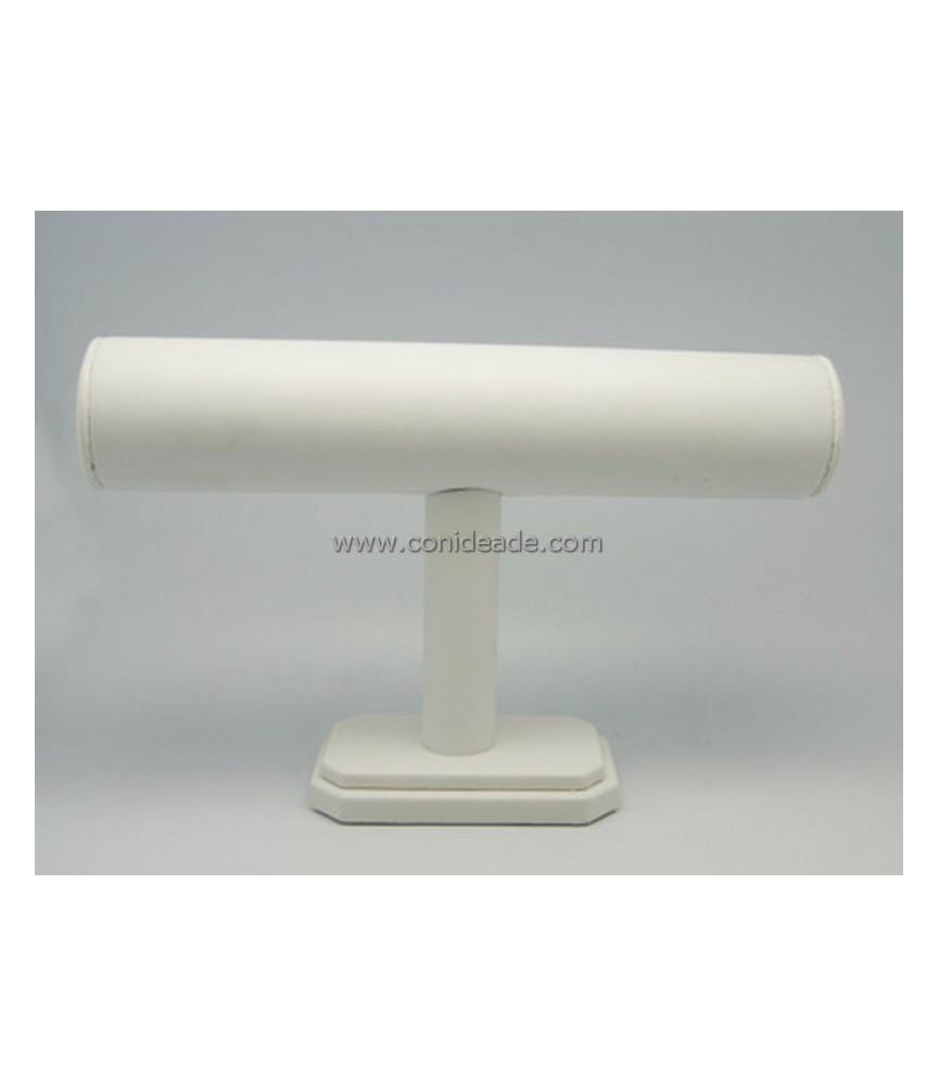 Expositor de pulseras polipiel blanco