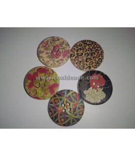 Pack de 5 botones mix vintage
