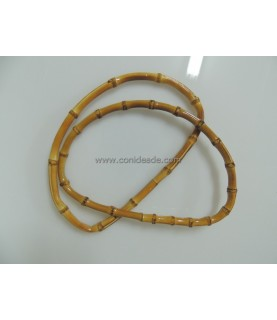 Par de asas de bambú natural ovaladas