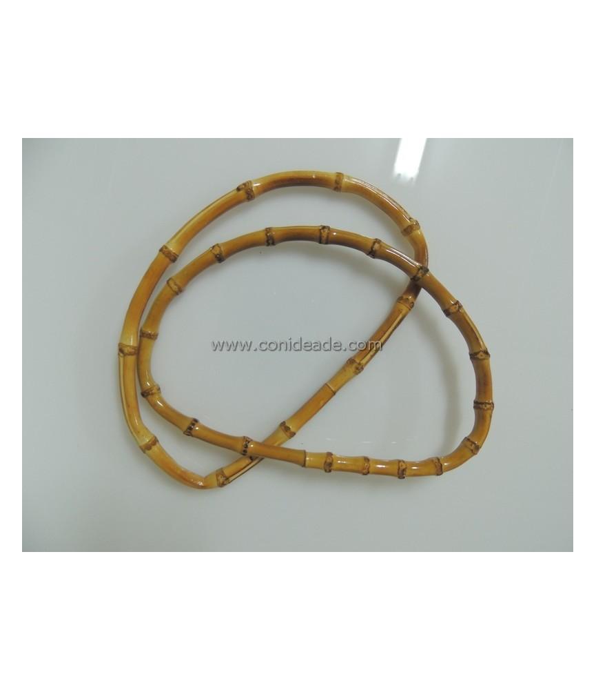 Par de asas de bambú ovaladas