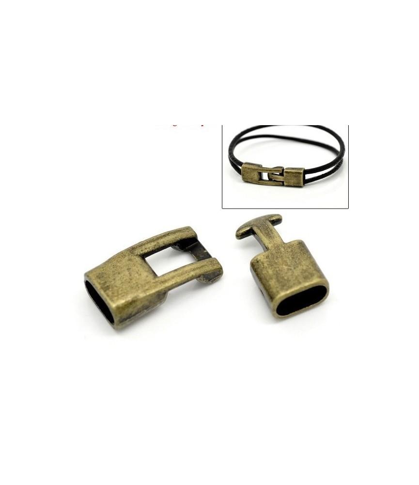 Cierre a presion color bronce 12mm