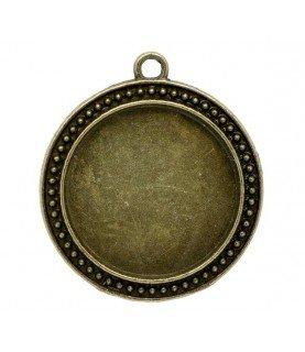 Comprar Base de camafeo redondo puntitos bronce de Conideade