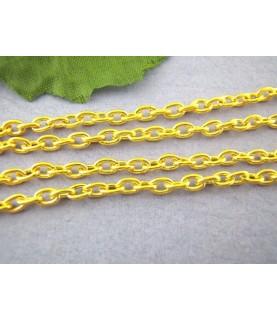 Comprar Cadena dorada eslabón redondeado 3x4 mm de Conideade