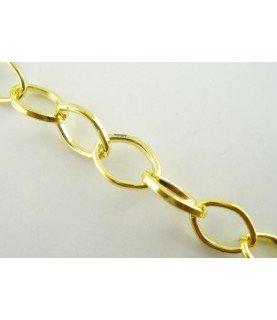 Comprar Cadena dorada eslabón 6x9 mm de Conideade
