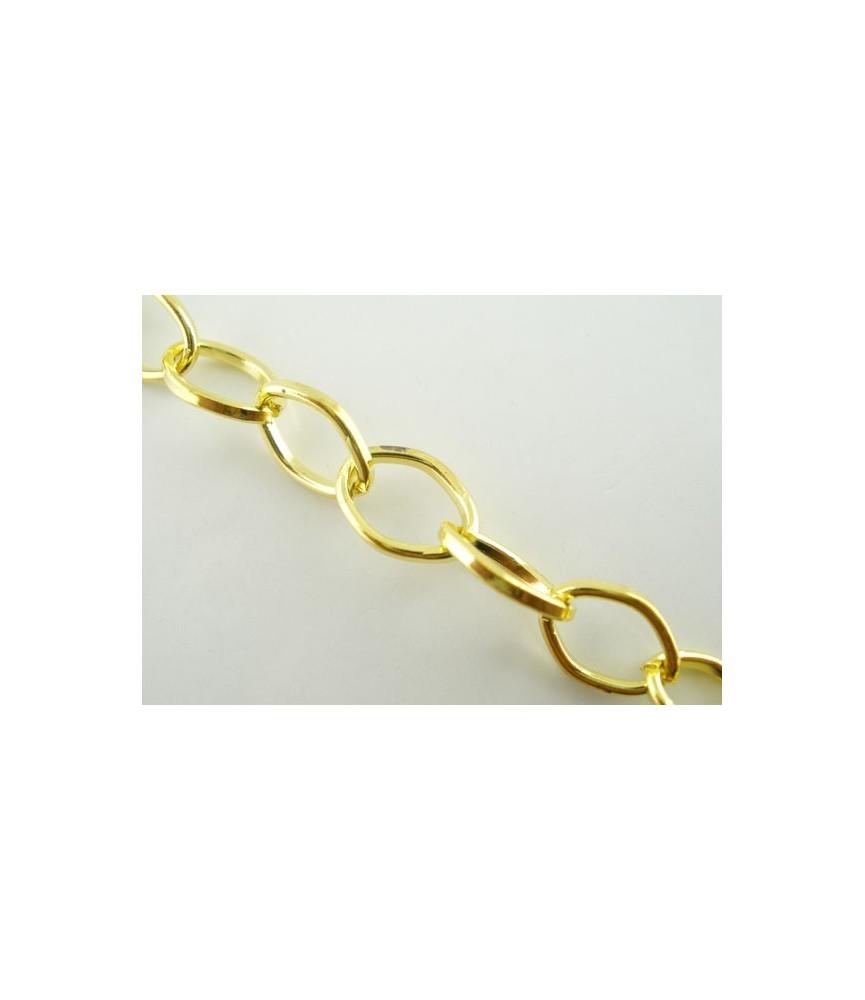 Cadena dorada eslabón 6x9 mm