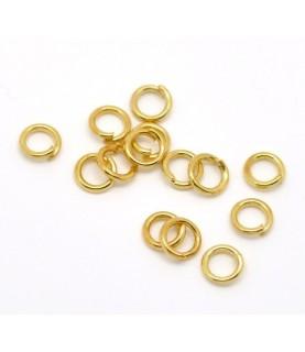 Pack de 25 Arandelas doradas de 5mm