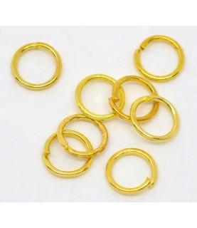 Pack de 25 Arandelas doradas de 6mm