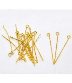 Comprar Pack de 25 bastones dorados cabeza anilla de Conideade