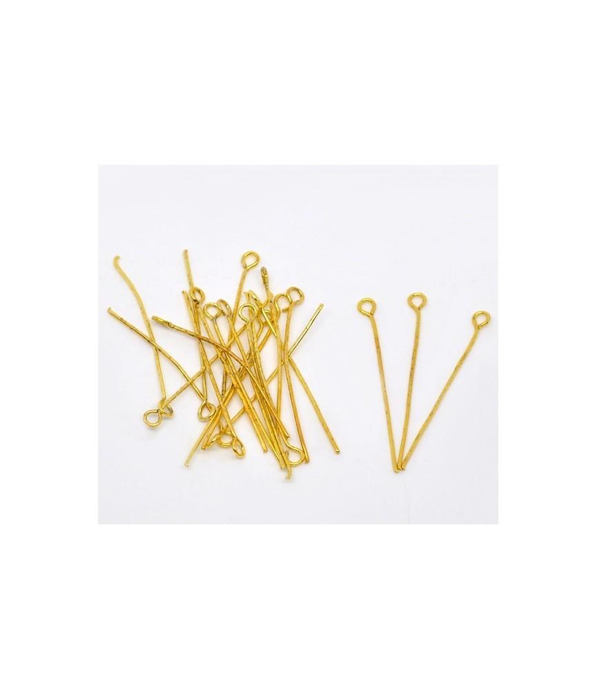 Pack de 25 bastones dorados cabeza anilla